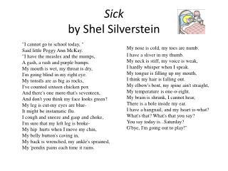 Sick  by Shel Silverstein