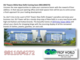 Dlf Prime Tower Okhla+9910007460 +Dlf New Office Space Okhla