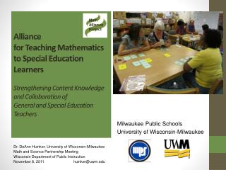 Alliance  for Teaching Mathematics to Special Education Learners   Strengthening Content Knowledge  and Collaboration of