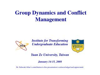 Group Dynamics and Conflict Management