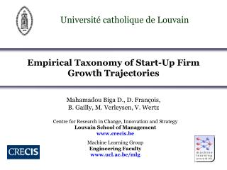 Empirical Taxonomy of Start-Up Firm             Growth Trajectories
