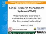 Clinical Research Management Systems CRMS