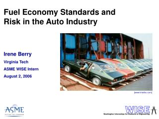 Fuel Economy Standards and Risk in the Auto Industry