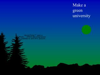 Make a green university