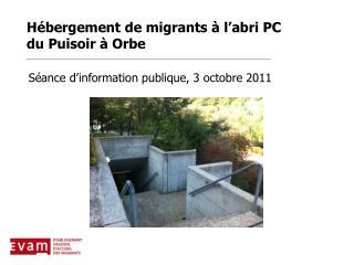 H bergement de migrants   l abri PC du Puisoir   Orbe