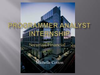Programmer Analyst Internship