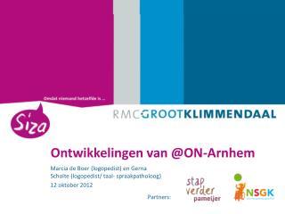 Ontwikkelingen van ON-Arnhem