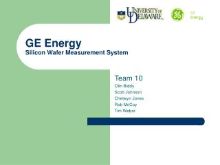 GE Energy  Silicon Wafer Measurement System
