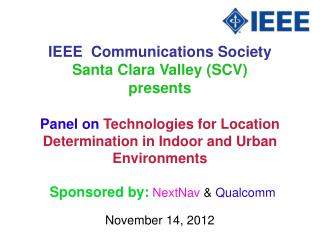 IEEE  Communications Society Santa Clara Valley SCV presents