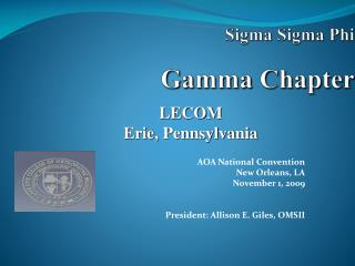 Sigma Sigma Phi Gamma Chapter