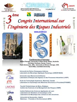 Congr s International sur  l Ing nierie des Risques Industriels
