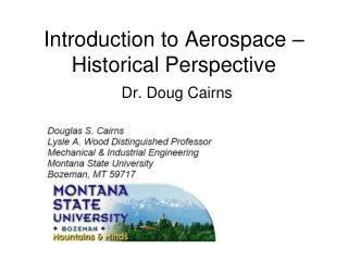 Introduction to Aerospace   Historical Perspective