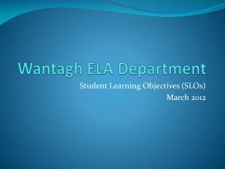 Wantagh ELA Department