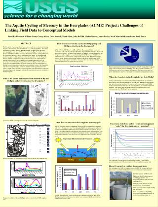 The Aqutic Cycling of Mercury in the Everglades ACME Project: Challenges of Linking Field Data to Conceptual Models