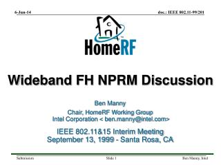 Wideband FH NPRM Discussion