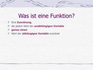 Was ist eine Funktion