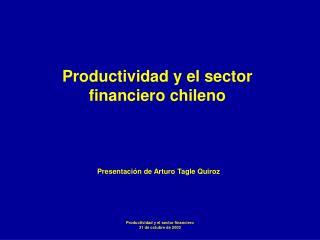Productividad y el sector financiero chileno