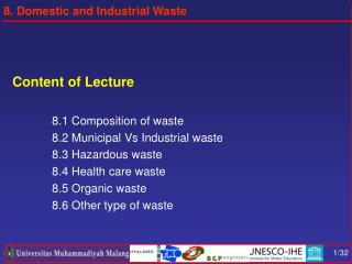 Content of Lecture