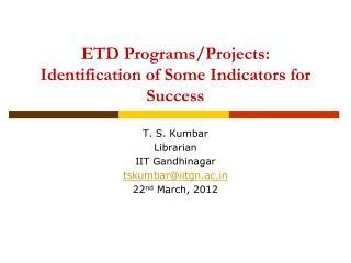 ETD Programs