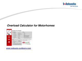 Overload Calculator for Motorhomes