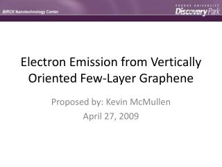 Electron Emission from Vertically Oriented Few-Layer Graphene
