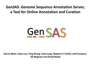 GenSAS: Genome Sequence Annotation Server,  a Tool for Online Annotation and Curation