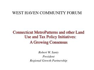 WEST HAVEN COMMUNITY FORUM