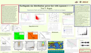 Earthquake size distribution: power-law with exponent             Yan Y. Kagan  Department of Earth and Space Sciences,