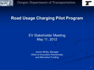 Road Usage Charging Pilot Program