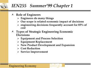 IEN255   Summer 99 Chapter 1