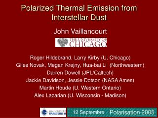 Polarized Thermal Emission from Interstellar Dust