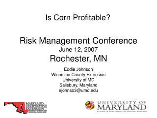 Risk Management Conference June 12, 2007 Rochester, MN