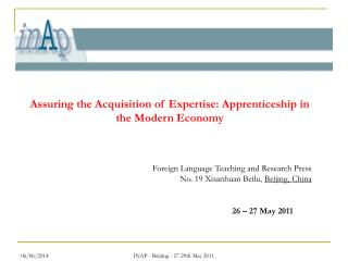 INAP - Beijiing - 27-29th May 2011