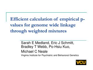 Efficient calculation of empirical p-values for genome wide linkage through weighted mixtures