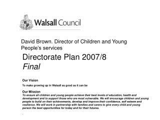 Directorate Plan 2007