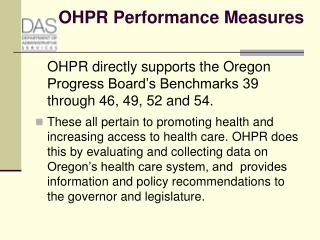 OHPR Performance Measures