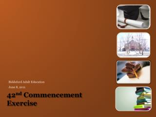 42nd Commencement Exercise