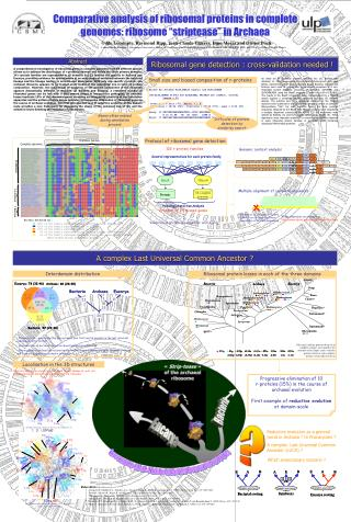 Comparative analysis of ribosomal proteins in complete  genomes: ribosome  striptease  in Archaea