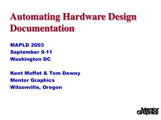 Automating Hardware Design Documentation