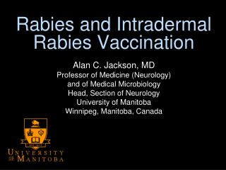 Rabies and Intradermal Rabies Vaccination