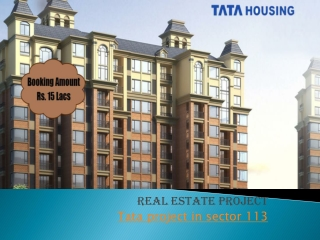 Tata Housing Project Sector 113 – Booking  @91 9250592505