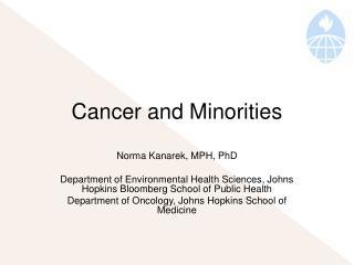 Cancer and Minorities