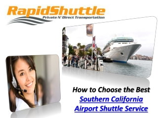 Southern California Airport Shuttle Service