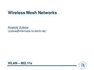 802.11 WLAN Example