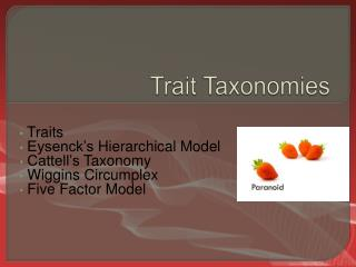 Trait Taxonomies