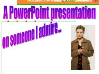 A PowerPoint presentation