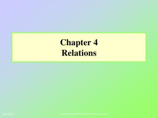 Chapter 4 Relations