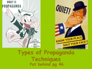 Types of Propaganda Techniques