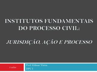 Institutos fundamentais  do Processo civil:  Jurisdi  o, A  o e Processo