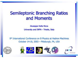 Semileptonic Branching Ratios and Moments